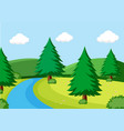 a simple nature scene vector image vector image