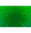 Abstract green glass blocks vector image