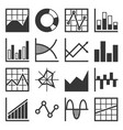 analytics and finance icon set vector image vector image