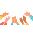 applauding multinational people clapping hands set vector image
