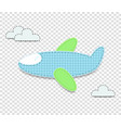 baby boy clip art airplane element for scrapbook vector image