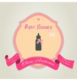 baby shower invitation with milk bottle vector image