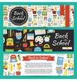 Back to School and Education Template Banners Set vector image