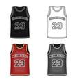 basketball jerseybasketball single icon in vector image vector image