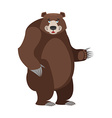 Bear in white background Good happy wild animal vector image vector image