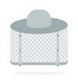 beekeeper hat flat material design isolated vector image vector image