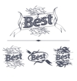 Best label with ribbons vector image vector image