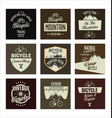 bicycle retro vintage banner collection vector image vector image
