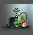 big green hookah vector image vector image