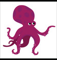 big red octopus cartoon character vector image