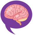 brain sign in purple in world alzheimers day vector image vector image