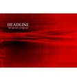 Bright red tech abstract background vector image vector image