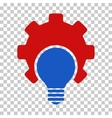 Bulb Configuration Gear Icon vector image