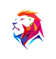 colorful creative lion head logo vector image vector image