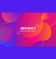 colorful geometric fluid shapes banner abstract vector image vector image