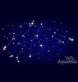 constellation of aquarius in a starry blue sky vector image