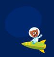 cute little teddy bear astronaut spaceman vector image vector image