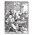 dance death astrologer from hans holbeins vector image vector image