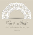 decorative save the date invitation vector image vector image