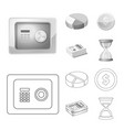 design bank and money icon collection vector image vector image