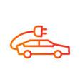 electric car icon vector image vector image