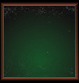 empty green school chalkboard vector image