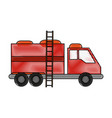 firefigther truck isolated vector image vector image