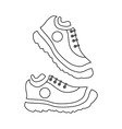 Fitness sneakers icon outline style vector image vector image