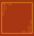 frame yellow 5 2209 vector image vector image