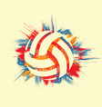grunge color volleyball symbol background vector image vector image