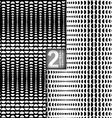 Halftone Style Black White Seamless Patterns Set vector image vector image