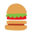 Hamburger with meat lettuce and cheese sandwich vector image