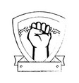 hand with clenched fist icon vector image vector image