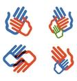 hands logo design template people family vector image vector image