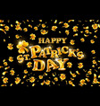 happy st patricks day on black background vector image vector image