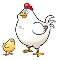 Hen and Chick vector image vector image