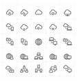 icon set - network and connectivity vector image vector image