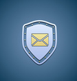 Icon shield with envelope vector image vector image