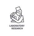 laboratory research thin line icon sign symbol vector image vector image