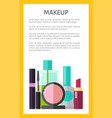 makeup multicolored poster vector image