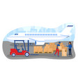 male worker in uniform is loading boxes from vector image