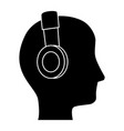 Man with headphones avatar character