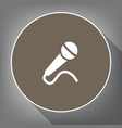 microphone sign white icon vector image vector image