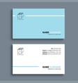 minimal business card print template design blue vector image vector image