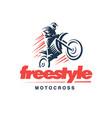 motorcycle logo emblem design vector image vector image
