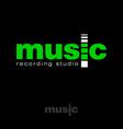 music recording studio emblem equalizer vector image
