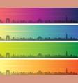 new delhi multiple color gradient skyline banner vector image vector image
