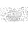 old haunted house at full vector image vector image