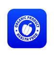 organic product icon blue vector image