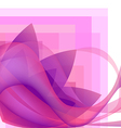 pink abstract flower with waves background vector image vector image